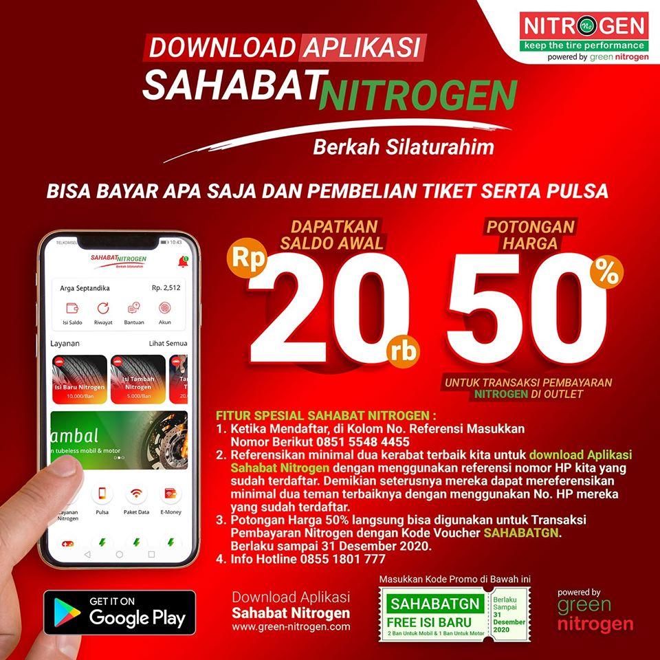 Promo Aplikasi Sahabat Nitrogen Sosmed?>