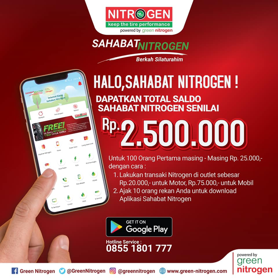Dapatkan Saldo Aplikasi Sahabat Nitrogen Total Hingga Rp. 2.500.000