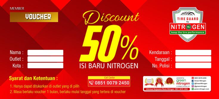 Green Nitrogen Bagi-bagi E-voucher Isi Baru Diskon 50%